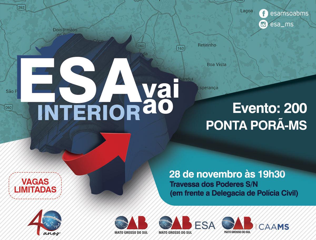 ESA VAI AO INTERIOR - PONTA PORÃ